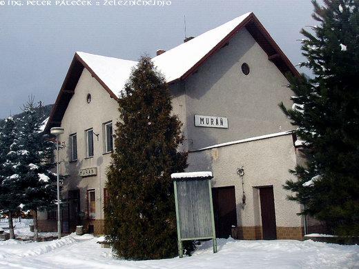 Posledná stanica natrati 165 Muráň