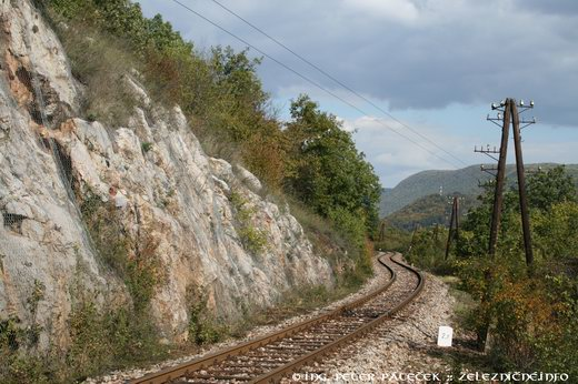 Trať 165 - stúpanie naKoniarsku planinu