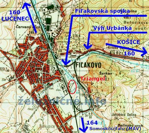 �st. Fi�akovo - mapa