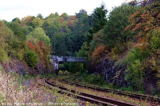 Železničný most na trati 145 nad traťou 171