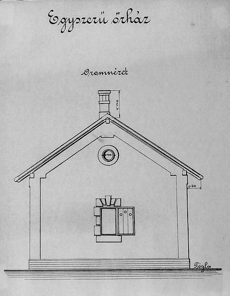 Stavebný plán strážneho domu