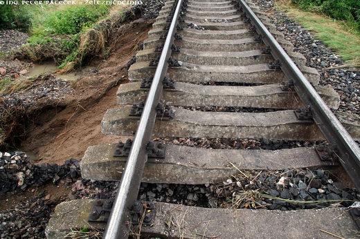 Výluka na trati 160