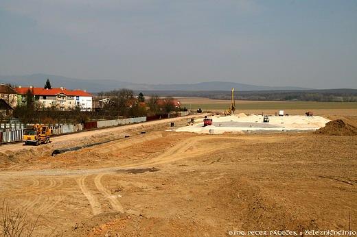 Výstavba terminálu v Moldave nad Bodvou
