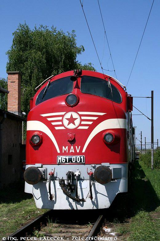 Motorový rušeň MÁV M 61.001 Noháb