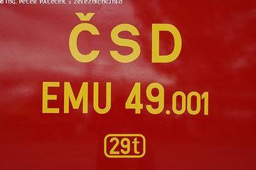 Označenie ČSD EMU 49.001