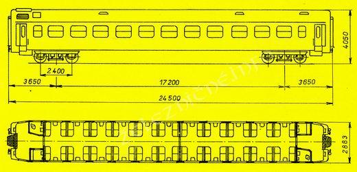 Prípojný vozeň radu 053