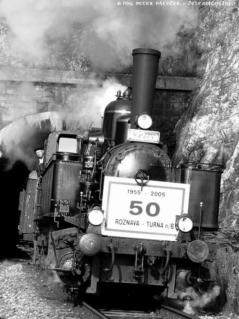 Parný rušeň 422.0108 naslávnostnom vlaku pri50. výročí