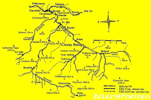 Mapa ČHŽ