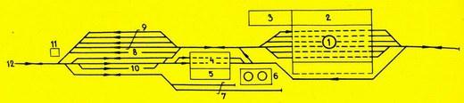 Príklad usporiadania rušňového depa smotorovou prevádzkou