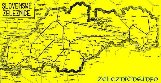 Mapa Slovenských železníc (SŽ)