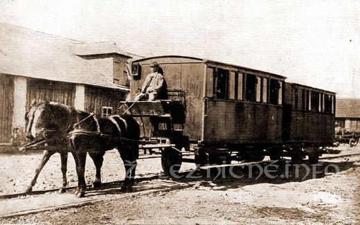 Konský záprah na prvej konskej železnice
