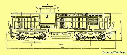 Technický výkres rušňa T 466.0