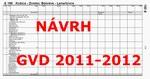Návrh GVD na obdobie 2011 - 2012